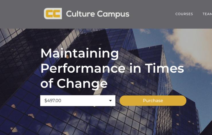 Pilot Online Training Course on Rapid Culture Change